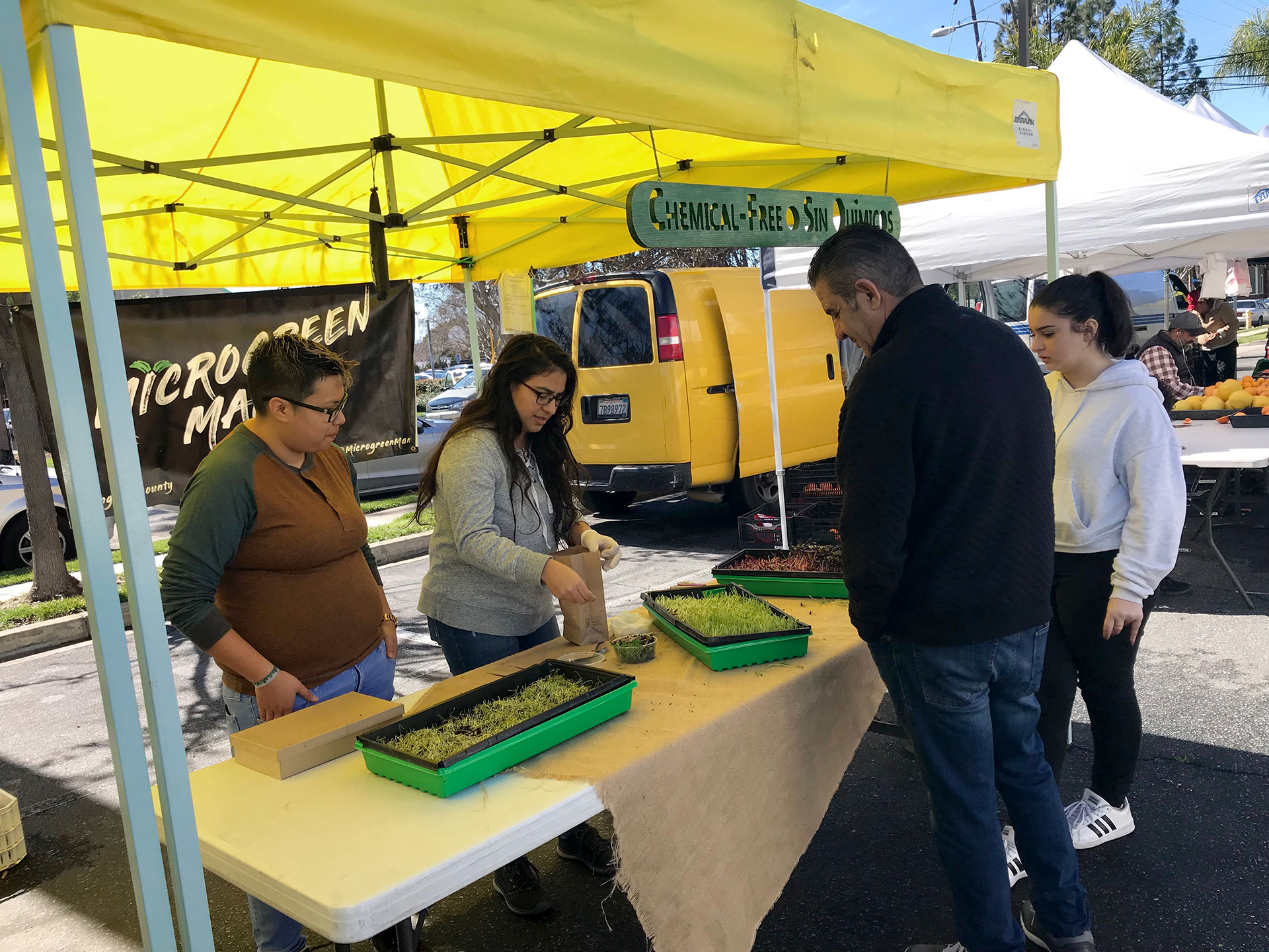 Many chemical-free food options available at the market